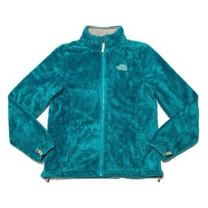 The North Face Osito Fuzzy Zip-Up Jacket Teal-Blue